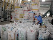Bond des exportations de riz en Chine