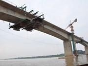 Nam Dinh : Mise en chantier du pont Thinh Long