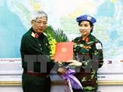 La première femme soldat vietnamienne aux opérations onusiennes de maintien de la paix