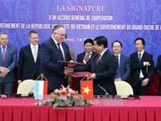 Le Vietnam et le Luxembourg signent un accord général de coopération bilatérale
