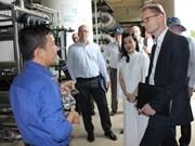 Des entreprises finlandaises visitent le complexe de traitement des déchets de Da Phuoc