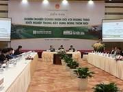 Forum d'entreprises dans le cadre du projet d'édification d'une Nouvelle ruralité