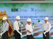 Mise en chantier de la première centrale photovoltaïque à Ninh Thuan
