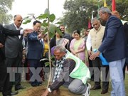 Inauguration du parc de l'amitié Inde-ASEAN à New Delhi