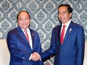 Le PM vietnamien rencontre les dirigeants cambodgien et indonésien en Inde
