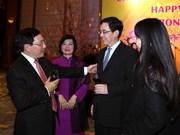 Tet traditionnel : rencontre avec le corps diplomatique étranger à Hanoï