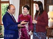 Cérémonie d'accueil du Premier ministre Nguyen Xuan Phuc en Nouvelle-Zélande.