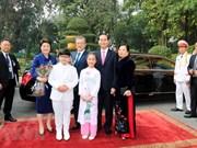 Cérémonie d'accueil officielle du président sud-coréen au Vietnam