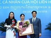 Des distinctions honorifiques remises à des femmes vietnamiennes et laotiennes