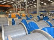 Hoa Phat exporte des fils en acier laminés vers le Laos et la République de Corée