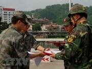 Patrouille commune sur la frontière Vietnam-Chine