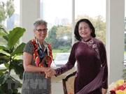 La vice-présidente Dang Thi Ngoc Thinh rencontre des dirigeants du Victoria (Australie)