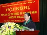 La vice-présidente de l'Assemblée nationale rencontre l'électorat à Son La