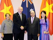 Entrevue entre Nguyen Xuan Phuc et le gouverneur général d'Australie