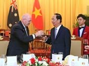 Le président Tran Dai Quang accueille le gouverneur général d'Australie