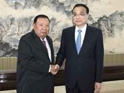 La Chine et le Laos s'accordent pour stimuler leur coopération