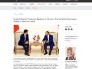 Expert canadien: de nouvelles opportunités dans les relations Vietnam-Canada