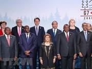 Le PM participe au Sommet du G7 élargi, visite le Canada