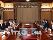 Une délégation la Chambre de commerce et d'industrie du Japon à Ho Chi Minh-Ville