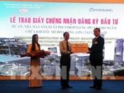 Ba Ria-Vung Tau: remise de la licence d'investissement à un projet de 1,2 milliard de dollars