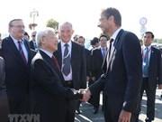 Le secrétaire général Nguyen Phu Trong en visite dans la ville hongroise de Szentendre