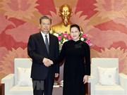 La présidente de l'AN reçoit un dirigeant chinois
