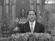 Condoléances de nombreux pays et organisations pour le décès du président Tran Dai Quang