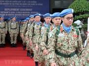 Maintien de la paix : des casques bleus vietnamiens partent pour le Soudan du Sud