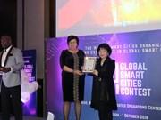 Une entreprise vietnamienne primée au concours Global Smart Cities 2018