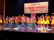 Quelque 2.250 bourses Odon Vallet remises en 2015 aux élèves talentueux