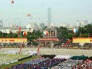 Meeting, parade militaire et défilé en l'honneur de la Fête nationale du Vietnam