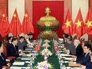 Entretien entre Nguyen Phu Trong et Xi Jinping