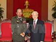 Le secrétaire général du PCV reçoit le ministre cambodgien de la Défense