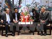 Le président Nguyen Sinh Hung rencontre le président de l'ANP du Guangdong