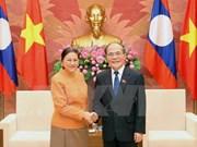 Nguyen Sinh Hung reçoit ses homologues laotien et cambodgien