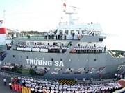 Têt traditionnel : arrivée du premier navire à Truong Sa