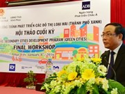 Conférence sur le développement urbain durable