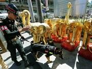 La police thaïlandaise en état d'alerte après des menaces terroristes