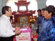 Le chef de l'Etat se rend à Quang Ngai
