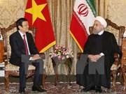 Entretien entre les présidents vietnamien et iranien