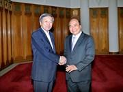 Le vice-PM Nguyen Xuan Phuc reçoit le ministre japonais de l'Economie