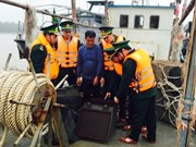 Hai Phong : arrestation d'un bateau chinois transportant illégalement du pétrole