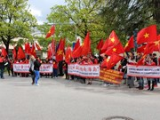 Manifestation münichoise contre les actes illégaux de la Chine en Mer Orientale