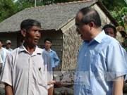 30 avril: le président du FPV visite des familles méritantes