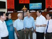 Le président Tran Dai Quang rencontre des électeurs d'Ho Chi Minh-Ville