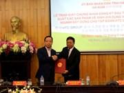 Ha Nam remet la licence d'investissement à un projet sud-coréen