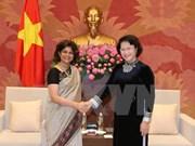 La présidente de l'Assemblée nationale reçoit la coordinatrice résidente de l'ONU