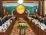 Le président Tran Dai Quang en visite d'Etat au Laos