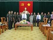 Des responsables du Nam Bo Occidental rencontrent leurs homologues de l'armée cambodgienne