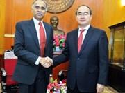 Le chef du FPV accueille les ambassadeurs d'Inde et d'Israël